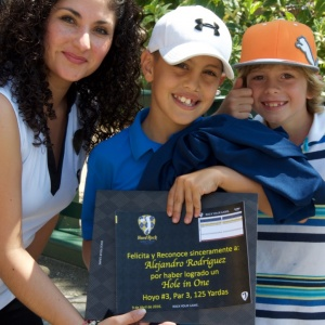 Junior Golfer Alex Rodriguez is recognized for his fantastic hole-in-one!